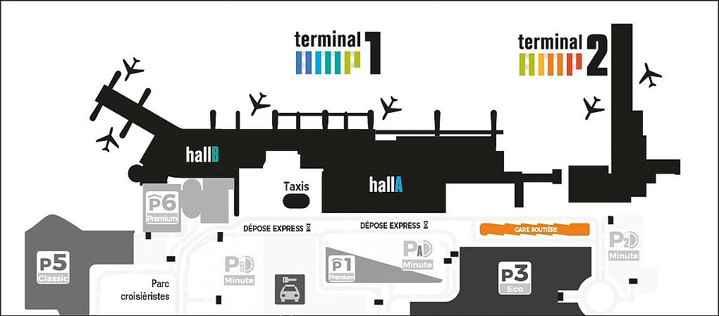 Marseille Provence airport : Neige